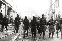 Soviet and Polish Armia Krajowa soldiers in Vilnius, July 1944