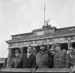 Fidel Castro and members of the East German Politburo in 1972