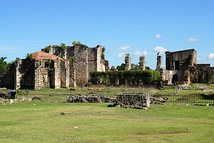 Ruins of the Monasterio de San Francisco,  the oldest monastery built in the Americas.