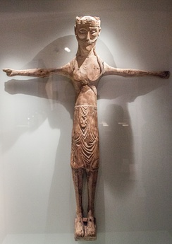 Carved statue of Jesus Christ, c. 1200, National Museum of Iceland.