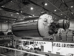 Centaur stage during assembly at General Dynamics,[3] 1962