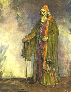 Sir Herbert Beerbohm Tree as Shylock, painted by Charles Buchel (1895–1935).