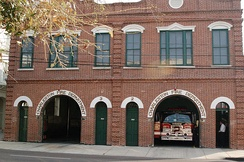 Fire Department station houses for Engines 2 and 3 of the Charleston Fire Department