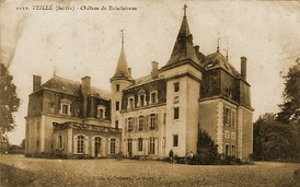The Château de Boisclaireau, residence of the Gueroust family, Counts of Boisclaireau, in Sarthe.