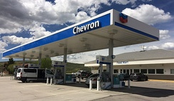 A Chevron gas station in Diamondville, Wyoming (taken on May 27, 2018).