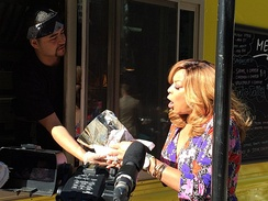 Television personality Wendy Williams previews the Chicago Food Truck Festival on Fox News in Chicago