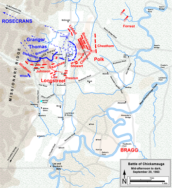 Defense of Horseshoe Ridge and Union retreat, afternoon and evening of September 20