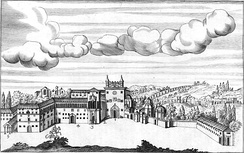 The Lateran during medieval times, from a 17th-century engraving by Giovanni Giustino Ciampini
