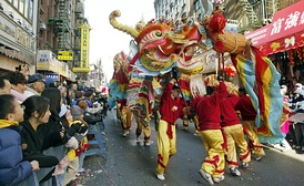 Chinese Lunar New Year (農曆新年) celebration in Manhattan Chinatown