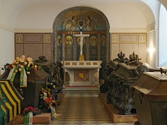 Catholic members of the Royal Albertine branch of the House of Wettin buried in the crypt chapel of the Katholische Hofkirche, Dresden
