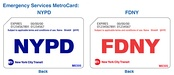 NYPD and FDNY MetroCards