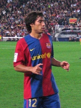 With Barcelona in 2006.