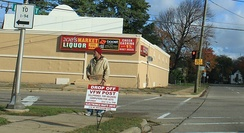 Homeless soliciting employment, Ypsilanti, Michigan