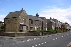 Houses along Quarmby Road