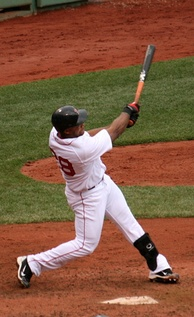 Beltré batting for the Boston Red Sox in 2010.