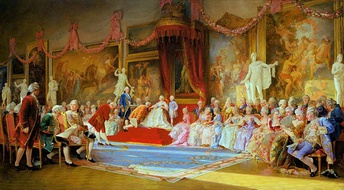 The Inauguration of the Academy of Arts, a painting by Valery Jacobi.