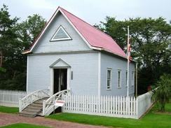 Japanese Immigrant's Assembly Hall in Hilo, built in 1889, today located in Meiji Mura museum, Japan