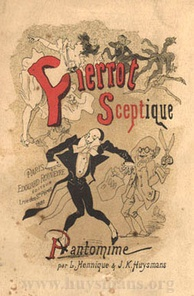 Jules Chéret: Title-page of Hennique and Huysmans' Pierrot the Skeptic, 1881