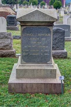 Bodwen's grave at the Congressional Cemetery