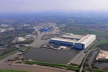 Meyer Werft shipyard in Papenburg, Germany