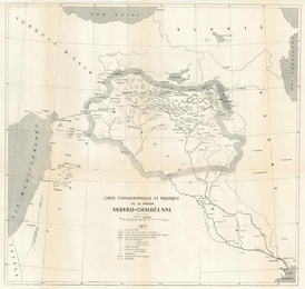 The Assyro-Chaldean Delegation's map of an independent Assyria, presented at the Paris Peace Conference 1919.