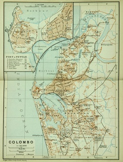 Map of Colombo, c. 1914
