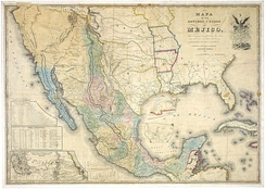 """Mapa de los Estados Unidos de Méjico"", by John Distrunell, the 1847 map used during the negotiations of the Treaty of Guadalupe Hidalgo"