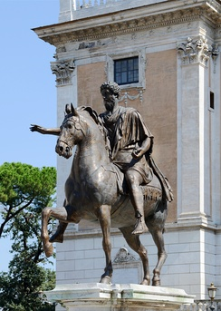 The Equestrian Statue of Marcus Aurelius on the Capitoline Hill was the prototype for Renaissance equestrian sculptures.
