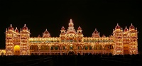 Mysore Palace in Mysore, was commissioned by the Maharaja of Mysore State.