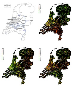 The three largerst patterns of genome-wide SNP variation in the Netherlands