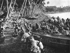 New Zealand troops land on Vella Lavella in the Solomons