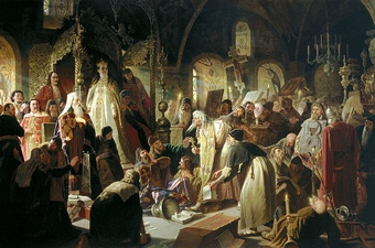 Nikita Pustosviat. Dispute on the Confession of Faith (1881)