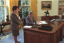 Shalala with President Bill Clinton in 1993