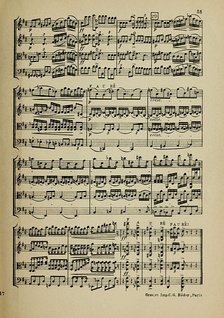 A page from the score for a string quartet for two violins, viola and cello.