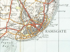 A map of Ramsgate from 1945
