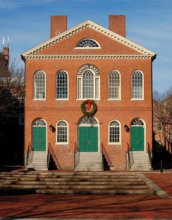 Old Town Hall in Salem, Massachusetts (dating from 1816–17).