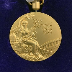 Gold medal of the 1988 Summer Olympics in Seoul.