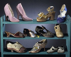 Museum display of shoes