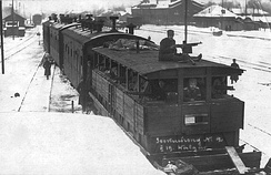 An armoured train used in the Estonian War of Independence against the Soviet Union, 1919