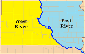 South DakotaEast River and West River