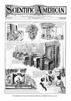 Front page of Scientific American in 1907, demonstrating the size, operation, and popularity of the Telharmonium