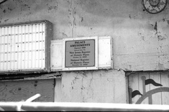The plaque at the Palace Amusements in Asbury Park, NJ (demolished 2004)