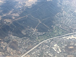 Aerial view of Thousand Oaks, southward view