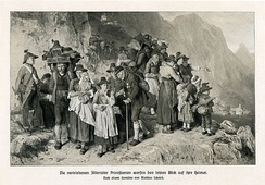 The Protestants from the Tyrolean Zillertal valley who had to leave their home in 1837