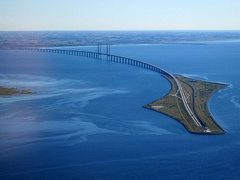 The Öresund Bridge between Denmark and Sweden is part of the Trans-European Networks