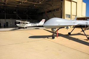 163d Reconnaissance Wing MQ-1 and Chase plane.jpg