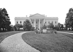 The North Lawn during the Abraham Lincoln administration