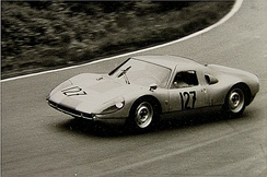 Porsche 904/8 during training for the 1,000km race at the Nürburgring in 1964.