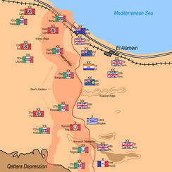 Deployment of forces on the eve of battle.
