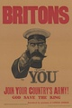 A World War I recruitment poster featuring Lord Kitchener (British Minister of War)